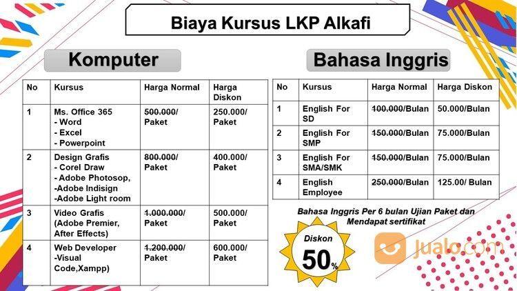LKP ALKAFI Kursus Komputer Dan Bahasa Inggris ( Berizin, Berkualitas Dan Bersertifikat ). - Sukabumi (29228088) di Kab. Sukabumi