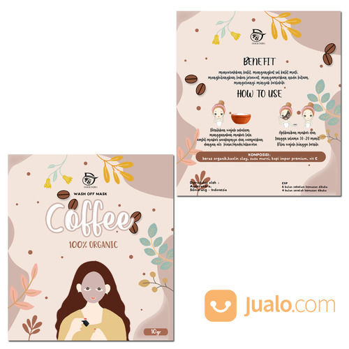 Jasa Desain Kemasan Masker Organic, Stiker Makanan Dll (29241898) di Kota Jakarta Utara