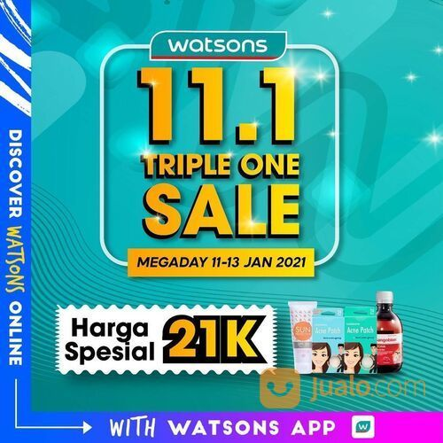 Watsons 11.1 Triple One Sale (29292380) di Kota Jakarta Selatan