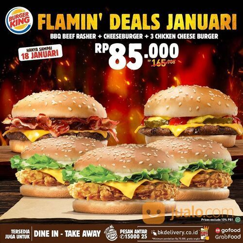 BurgerKing FLAMIN DEAL JANUARI (29292387) di Kota Jakarta Selatan