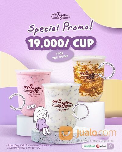 Miyou's SPECIAL PROMO 19K With Every Purchase Of 1 Drink , Customer Can Redeem Second Drink* (29292422) di Kota Jakarta Selatan