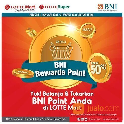 LOTTE Kartu BNI Senilai Rp 2.500,- akan mendapatkan 1 point khusus BNI-LOTTE! (29292537) di Kota Jakarta Selatan