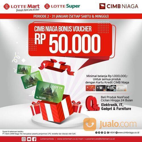 LOTTE Mart Dapatkan Voucher belanja senilai Rp. 50.000 dengan minimal perbelanjaan Rp. 1.000.000 (29292539) di Kota Jakarta Selatan