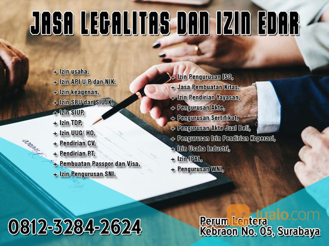 JASA LEGALITAS DAN IZIN EDAR SURABAYA (29300831) di Kota Surabaya