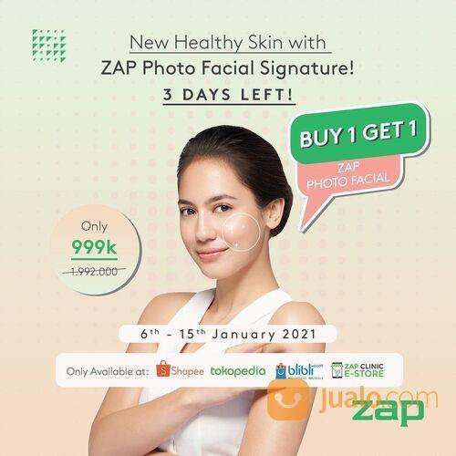 ZAP Clinic New Healthy Skin with ZAP Photo Facial Signature Buy 1 Get 1 Photo Facial Glow 999rb (29305546) di Kota Jakarta Selatan