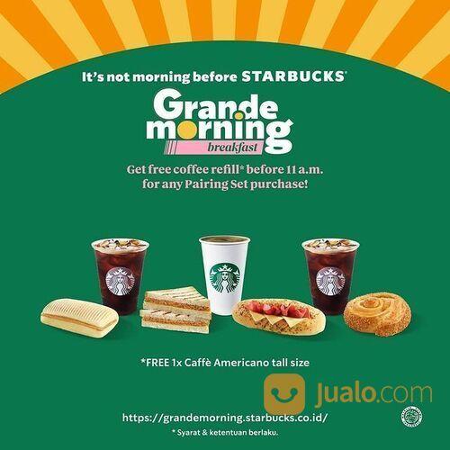 Starbuck Grande Morning Buy 1 Get 1* (29306057) di Kota Jakarta Selatan