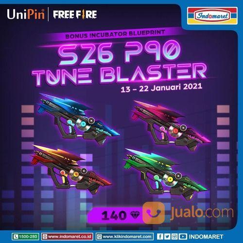 UniPin Top up 140 Diamond Garena Free Fire dan dapatkan bonus Incubator Blueprint S26 P90 Tune (29379690) di Kota Jakarta Selatan