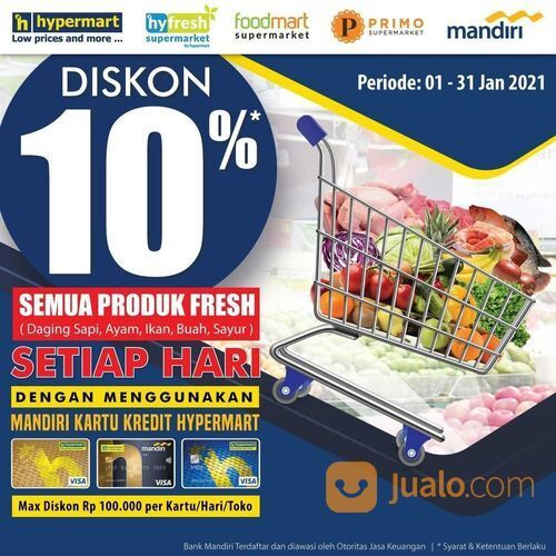 Hypermart Tambahan Diskon 10% Setiap Hari untuk produk Fresh (29380391) di Kota Jakarta Selatan