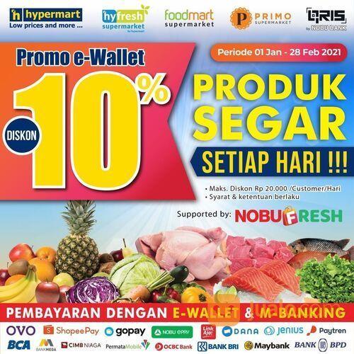 Hypermart e-Wallet Promo Diskon 10% (29380503) di Kota Jakarta Selatan