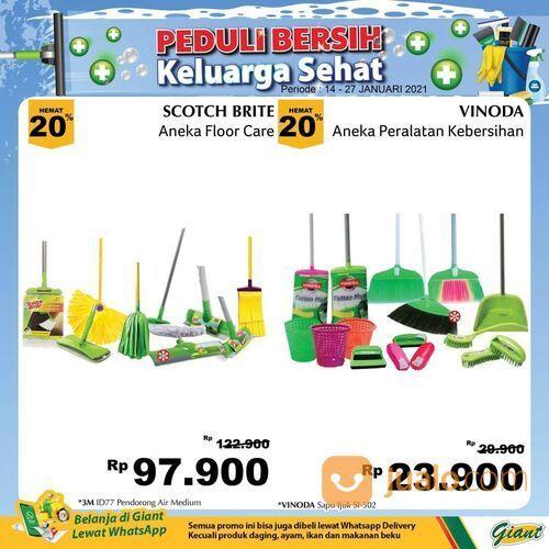 Giant Promo peralatan kebersihan di Giant dengan harga hemat hingga 40%. (29381234) di Kota Jakarta Selatan