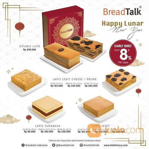 BreadTalk Lunar New Year Promo 8%* (29381638) di Kota Jakarta Selatan