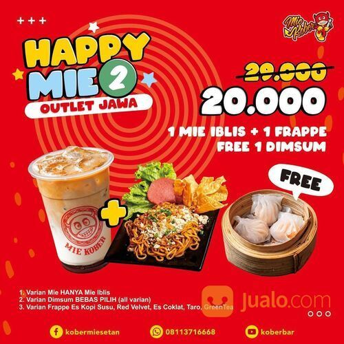 Kober Mie Setan Promo Happy Mie Kober (29384633) di Kota Jakarta Selatan