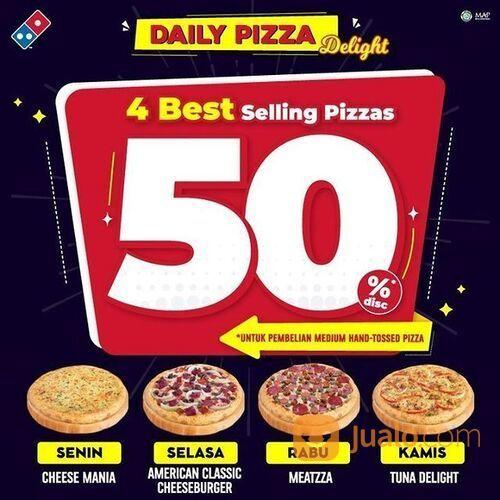 Dominos Pzza 4 Best Selling Pizzas 50% Promo* (29384909) di Kota Jakarta Selatan