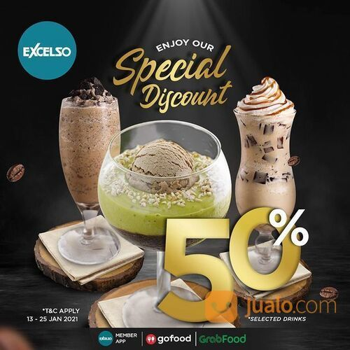 Excelso DISCOUNT 50% FOR SELECTED DRINKS (29384935) di Kota Jakarta Selatan