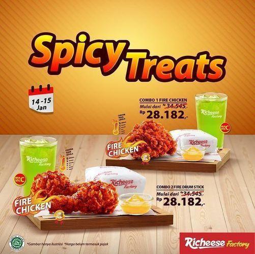 Richeese Factory MAKAN HEMAT DENGAN PESEN PROMO SPICY TREATS DI RF!! (29385526) di Kota Jakarta Selatan