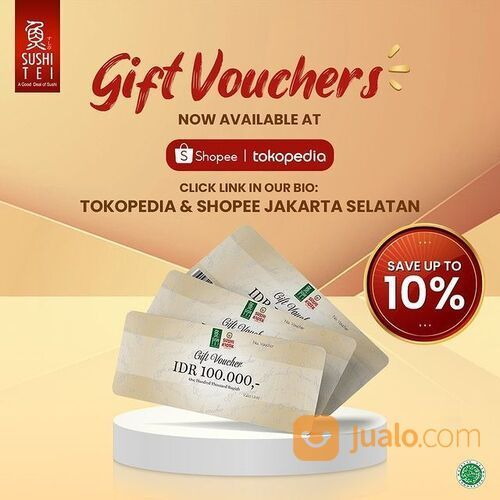 Sushi Tei Gift Vouchers on your hand and save up to 10% (29396591) di Kota Jakarta Selatan