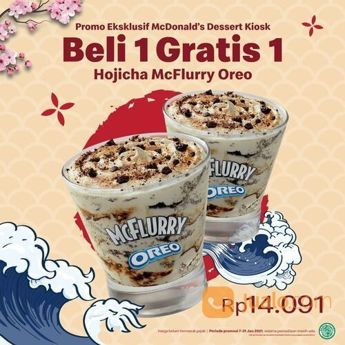McDonalds Dessert Kiosk, promo beli 1 gratis 1* (29397656) di Kota Jakarta Selatan