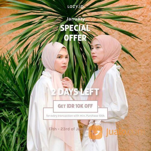 Lozy Hijab Diskon 10K minimal pembelian 100K untuk setiap transaksi dannnn Cashback 30% (29405654) di Kota Jakarta Selatan