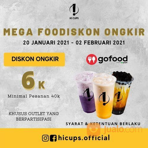 Hicups Promo di GoFood (29406058) di Kota Jakarta Selatan