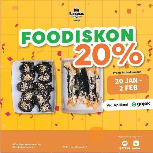 Big Bananas PROMO FOODISKON 20%!!! (29407025) di Kota Jakarta Selatan