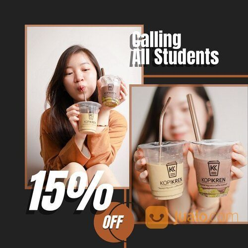 KopiKren077 Special Offer For Students! 15% OFF for any beverage, just show your Student ID (29407474) di Kota Jakarta Selatan