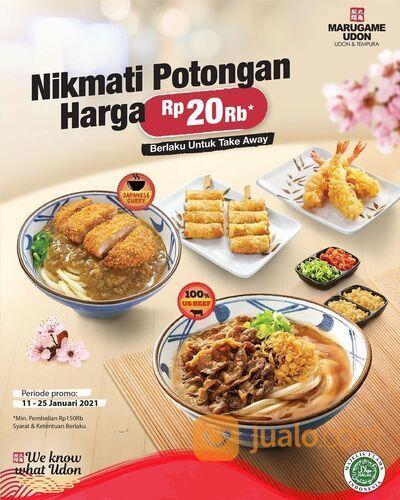 Marugame Udon Dapatkan potongan langsung Rp 20K hanya dengan minimum pembelian Rp 150K* (29407912) di Kota Jakarta Selatan