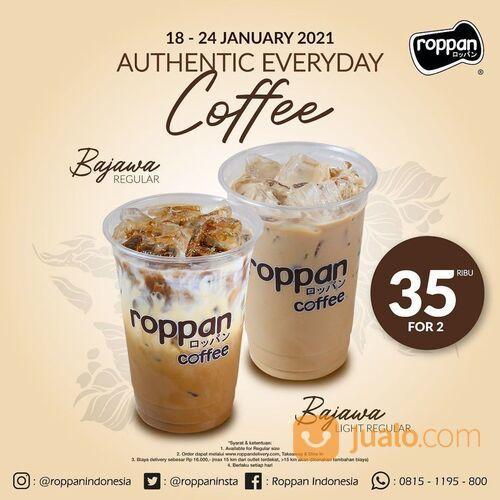 Roppan Authentic Everyday Coffee 35 ribu untuk 2 minuman - Bajawa Regular atau Bajawa Light Regular (29415901) di Kota Jakarta Selatan