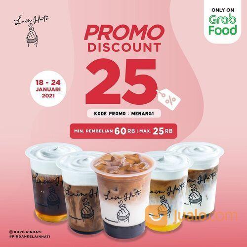 KOPI LAIN HATI Diskon 25% di Grabfood ya dengan KODE PROMO MENANG1 (29419188) di Kota Jakarta Selatan