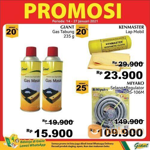 Giant promo untuk tabung gas portabel dan selang regulator (29420353) di Kota Jakarta Selatan