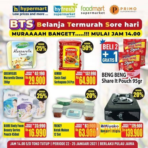 Hypermart promo Belanja Termurah Sore hari! (29420628) di Kota Jakarta Selatan
