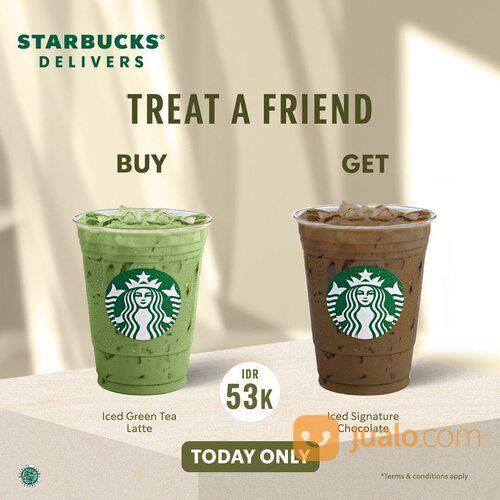Starbucks Beli 1 Gratis 1* untuk minuman tertentu khusus pembelian melalui rekan Starbucks Delivers (29440426) di Kota Jakarta Selatan