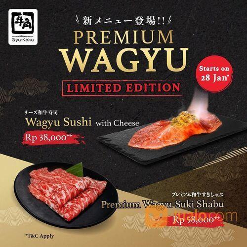 Gyu-Kaku LIMITED EDITION Wagyu Sushi With Cheese & Premium Wagyu Suski Shabu at @gyukaku.id Jabodeta (29440762) di Kota Jakarta Selatan