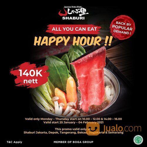 SHABURI Happy Hour Time! Enjoy All you can eat Japanese Shabu only 140k nett! (29440847) di Kota Jakarta Selatan