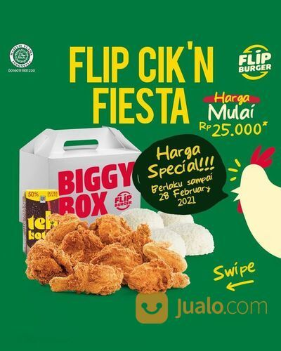FLIP BURGER harga special CIKN FIESTA (29440901) di Kota Jakarta Selatan