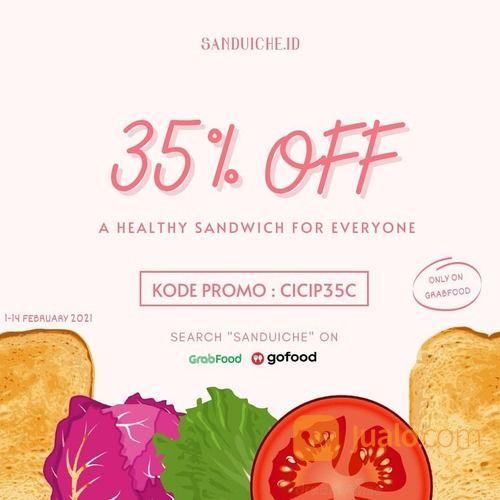 Sanduiche.id ada diskon 35% khusus untuk pembelian di GRABFOOD (29465384) di Kota Jakarta Selatan
