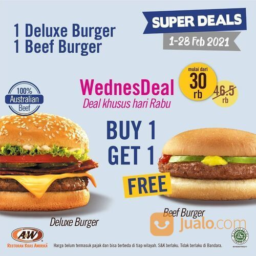 A&W Promo spesial untuk A&W Lovers yang udah nantikan Super Deals Februari (29468597) di Kota Jakarta Selatan