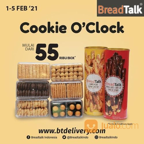BreadTalk Cookie favorite BreadTalk mulai dari 55ribu* (29468761) di Kota Jakarta Selatan