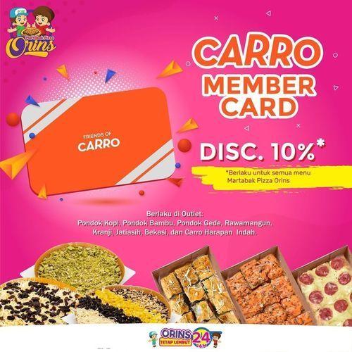 Martabak Pizza Orins Diskon Carro Member Card 10% (29469743) di Kota Jakarta Selatan