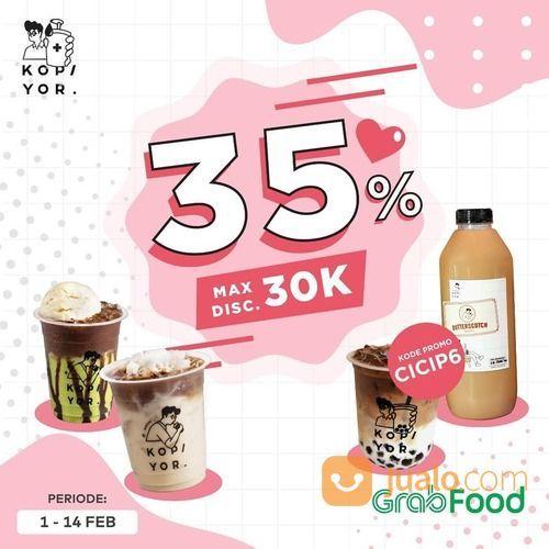 KOPI YOR DISKON 35% via GrabFood (29470117) di Kota Jakarta Selatan
