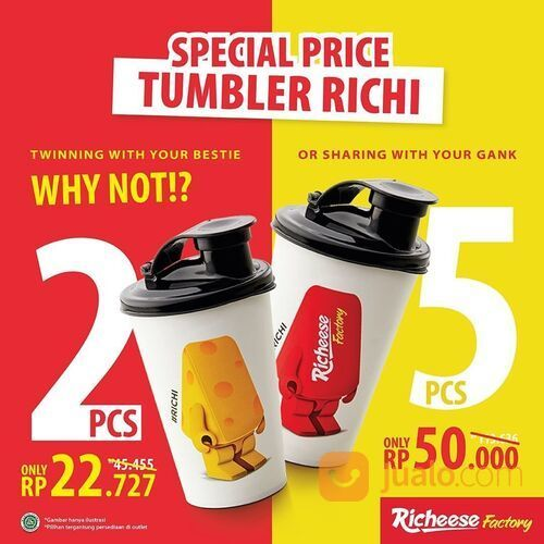 RICHEESE FACTORY SPECIAL PRICE TUMBLER RICHI (29514326) di Kota Jakarta Selatan
