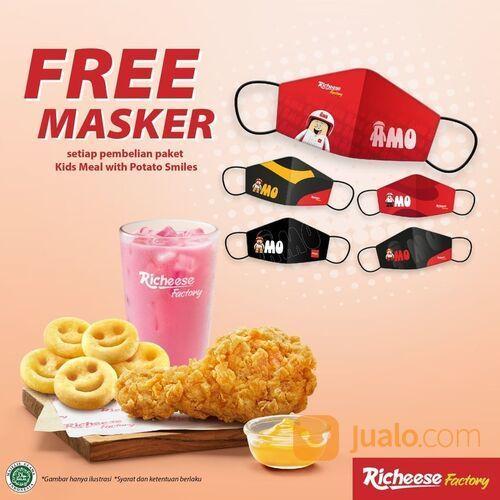RICHEESE FACTORY Setiap pembelian Kids Meal dengan Potato Smiles, kamu akan mendapatkan GRATIS 1 MAS (29514377) di Kota Jakarta Selatan