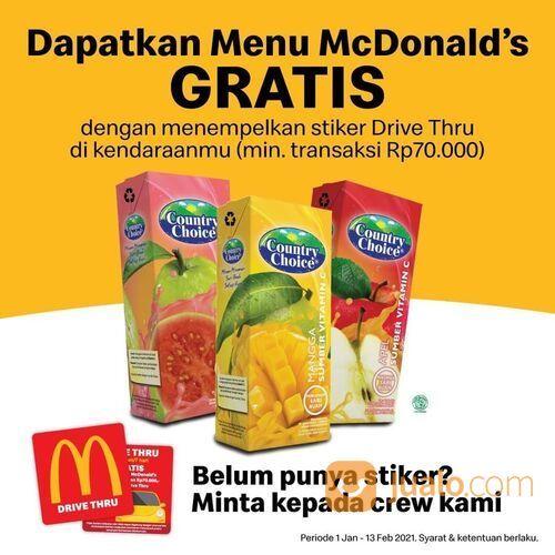 McDonald's Dapatkan GRATIS Country Choice untuk setiap pemesanan melalui Drive Thru dengan minimum p (29514432) di Kota Jakarta Selatan