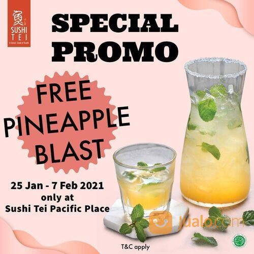 Sushi Tei Start your day with #FreshwithSushiTei Free Pineapple Blast only at Sushi Tei @pacificplac (29514730) di Kota Jakarta Selatan