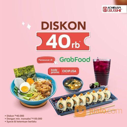Ichiban Sushi di Grabfood dan nikmati potongan langsung 40 RIBU* (29514871) di Kota Jakarta Selatan