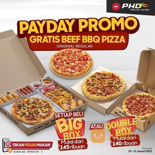 Pizza Hut Delivery Dapetin gratis Beef BBQ Pizza ukuran regular setiap beli Big Box atau Double Box (29516304) di Kota Jakarta Selatan