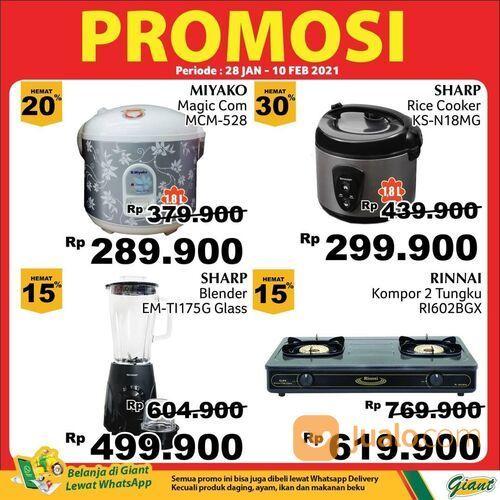 Giant promo menarik untuk produk elektronik mulai dari rice cooker, kompor gas, blender, hingga disp (29517283) di Kota Jakarta Selatan