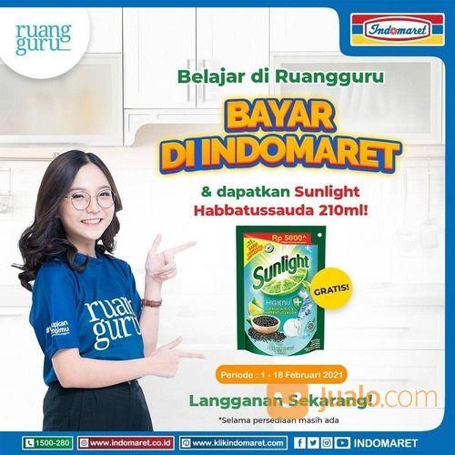 Belajar di Ruangguru bayar di Indomaret & dapatkan SUNLIGHT Habbatussauda 210 ml. Periode 1-18 Febru (29517318) di Kota Jakarta Selatan
