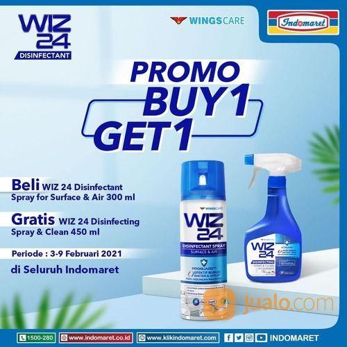 Indomaret Pembelian WIZ 24 Disinfectant Spray for Surface & Air 300 ml, dapat bonus WIZ 24 Disinfect (29517325) di Kota Jakarta Selatan