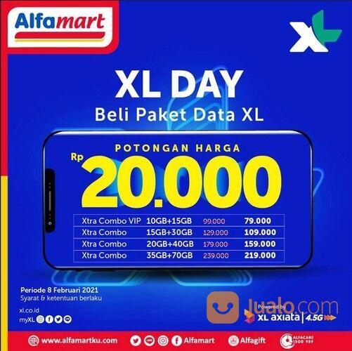 Alfamart Promo XL DAY Potongan Harga Rp 20.000,- untuk Top up Paket Data XL pilihanmu berikut ini di (29517370) di Kota Jakarta Selatan