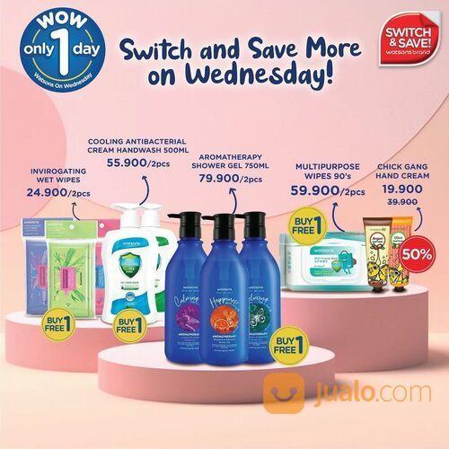 Watsons Brand promo Buy 1 Free 1 at Watsons Store & 50% OFF at Watsons Online! (29519292) di Kota Jakarta Selatan